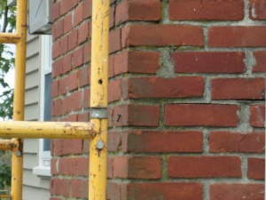 Chimney repair due to failed throat design